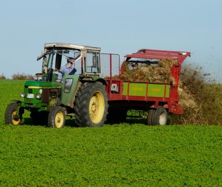 Tractor geitenbedrijf
