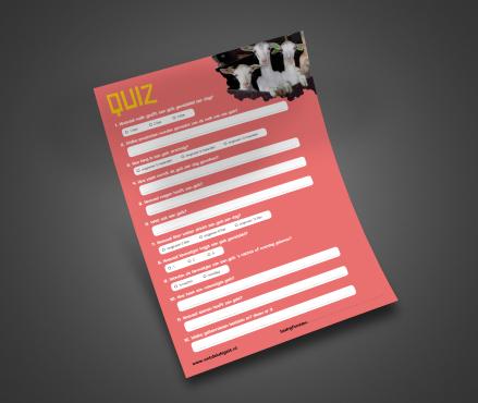 Quiz voor kinderen over geiten