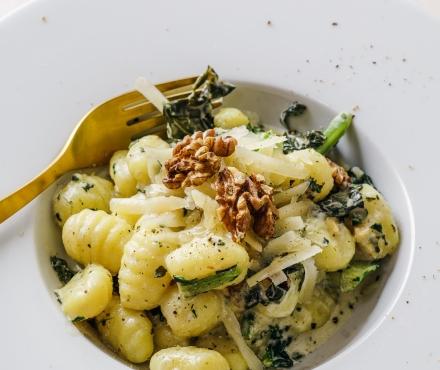 Gnocchi met spinazie en geitenkaas